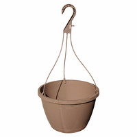 "11"" Shuttle Standard Hanging Basket (Speckled Mocha) (SHB1100)"