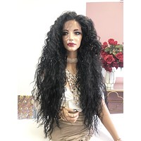 """Brown Swiss 360' All Around Frontal Deep Lace Wig 28"""" 0319 Miami"""