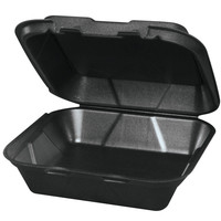 Genpak Black 9x6 Foam Hinged Container (20500) 200/Case