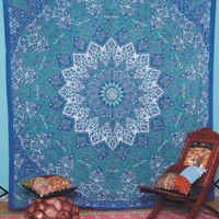Indian Star Tapestry Mandala Tapestry Indian Wall Hanging Throw Bedspread Decor