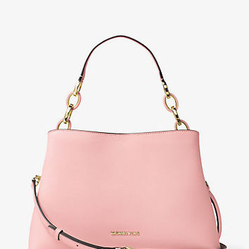 Portia Large Saffiano Leather Shoulder Bag | Michael Kors