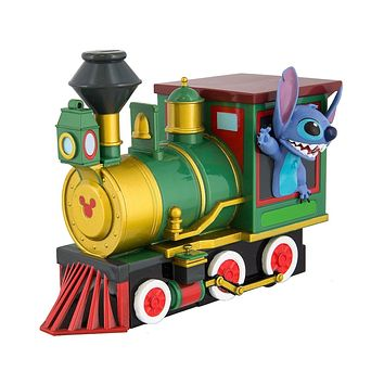 Disney Parks Stitch Riding the Train Vehicle Pullback Toy New