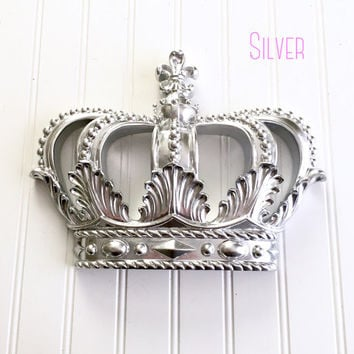 Silver Princess Crown - Nursery Decor - Princess Crown - Baby Shower Decor - Girls Room