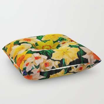 Daffys Floor Pillow by Jessica Ivy