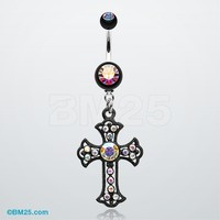 Blackline Opulent Cross Belly Button Ring