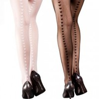 Heart Seam Tights - Tights, Stockings, Shapewear and more - MyTights.com - The Online Hosiery Store