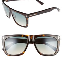 Tom Ford Morgan 57mm Flat Top Sunglasses | Nordstrom
