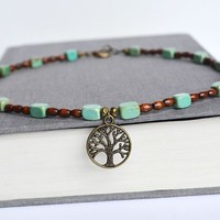 Tree of Life Wood NecklaceTree of Life Turquoise by LOVEnLAVISH