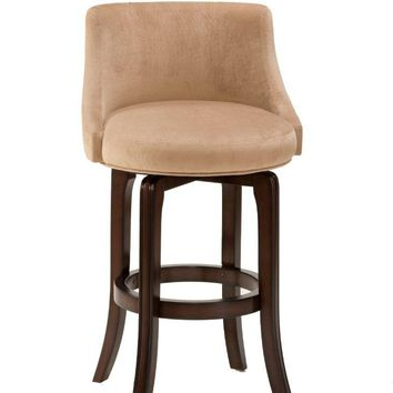 4294-828I Napa Valley Swivel Counter Stool - Textured Khaki Fabric