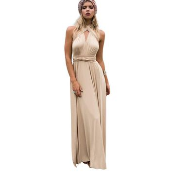 Maxi Dresses Long Summer Women Boho Sexy Red Bandage Multiway Bridesmaids Wedding Party Convertible Dress robe longue femme 2017
