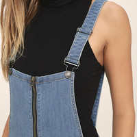 Lead the Way Light Wash Distressed Denim Overalls