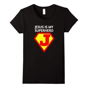 Jesus Is My SuperHero T-Shirt- Cute Christian Gift