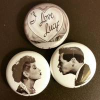 I Love Lucy pin set of 3