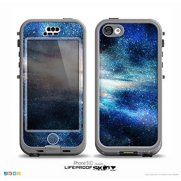 The Blue & Gold Glowing Star-Wave Skin for the iPhone 5c nüüd LifeProof Case