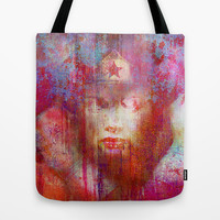 wonder abstract woman Tote Bag by Ganech joe