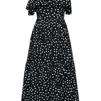 Cotton Pois Off the Shoulder Dress | Moda Operandi