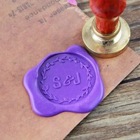 Custom Initial Monogram Wax Seal Stamp /personalized wedding wax seal/ Cute stationery