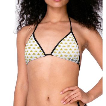 Gold Crowns AOP Swimsuit Bikini Top All Over Print by TooLoud