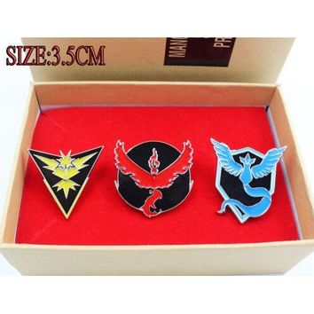 Pokémon GO Team Metal Badge Pins (Valor, Mystic, Instinct)
