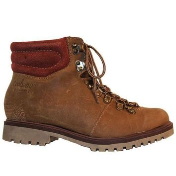 ONETOW Coolway Bridget - Brown Leather Lace-Up Hiking Boot