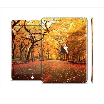 The Fall Back Road Skin Set for the Apple iPad Air 2