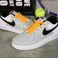"""Nike Air Force 1"" Unisex Sport Casual Letter Multicolor Low Help Shoes Sneakers Couple Plate Shoes"