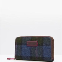 Laurel Leaf Check Fairfordtwd Tweed Purse , Size One Size | Joules UK