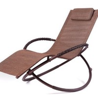 RST Outdoor OP-OL04S-brn Luis Orbital Zero Gravity Lounger Patio Furniture