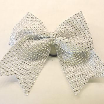 the-jordan-clear-rhinestone-cheer-bow number 1