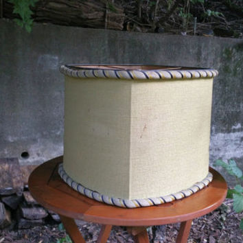 Vintage Rembrandt Square Lamp Shade for Torchiere Lamp