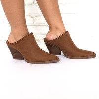 Get To The Point Slip On Heels In Camel
