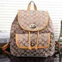 GUCCI  Woman  fashion backpack has a large backpack Apricot