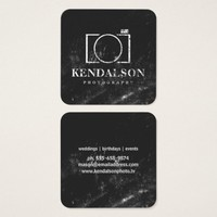 Square Chalkboard Photography Square Business Card
