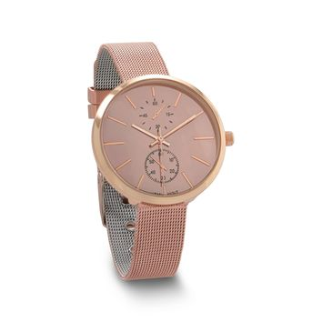 Rose Tone Mesh Watch with Mirror Face
