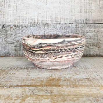 Planter Ceramic Planter Concrete Bowl Marbled Handmade Succulent Planter Mid Century Terrarium Planter Ceramic Fruit Bowl Catchall Bowl