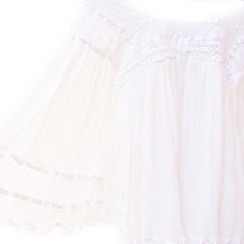 Angel white bohemian dress