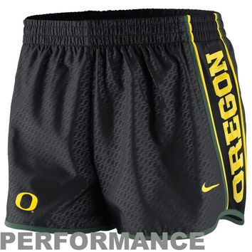 Nike Oregon Ducks Womens Chainmaille Pacer Performance Shorts - Black