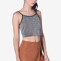 Poller Knit Ribbed Metallic Tank by Motel