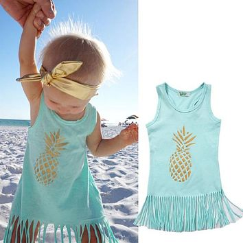 Cute Pineapple Fringe Dress