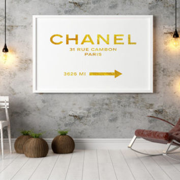 COCO CHANEL Quote,Office Decor,Home Decor,Girls Room Deco,Typography PosterFashion Print,Chanel 31 Rue Cambon,Fashion Decor,Fashionista