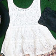 LACE MEMORIES TANK IN WHITE