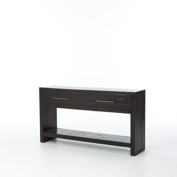ELLEN CONSOLE TABLE - BURNISHED BLACK