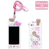 I Need 3D Adorable Hot Pink Candy and Cream Hello Kitty Soft Silicone Case Compatiable for Iphone5