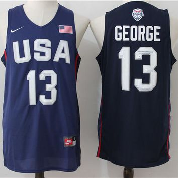 Best Deal Online USA Basketball Dream Team Jerseys #13 Paul George