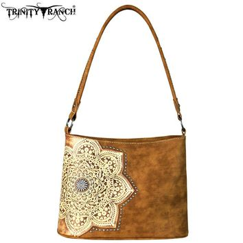 Trinity Ranch Tooled Leather Collection Boho Handbag