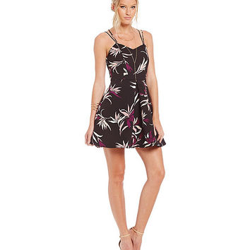 Keepsake Twisted Fiction Floral Mini Dress | Dillards