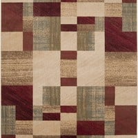 Riley Area Rug Red, Brown
