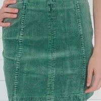 Feeling Fall Miniskirt - Shamrock Green