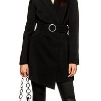 Topshop Crystal Buckle Blazer Dress | Nordstrom