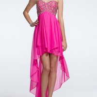 High Low Prom Dress with Jeweled Bodice - David's Bridal